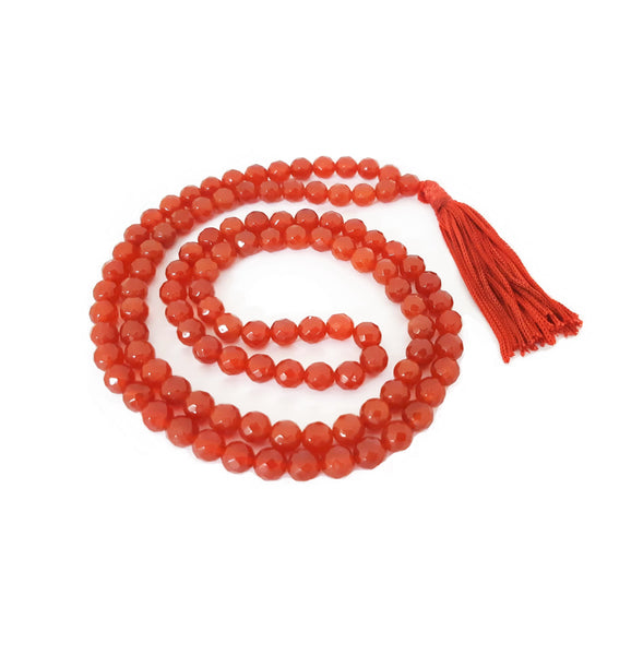 Carnelian Faceted Mala