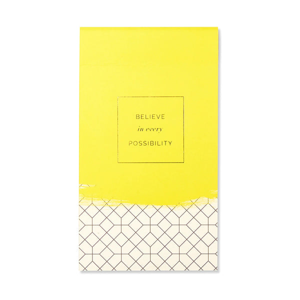 Believe in Every Possibility List Pad