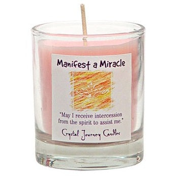 """Manifest a Miracle"" Intention Candles"