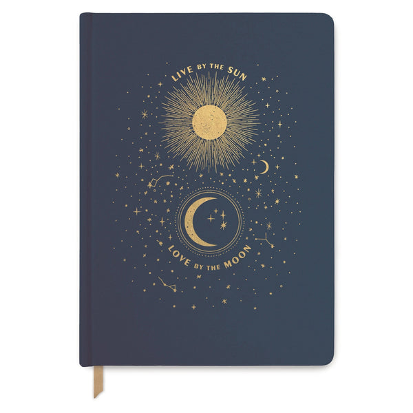 """Live By the Sun, Love By the Moon"" Cloth Journal"