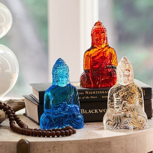 Hand-Cast Glass Guanyin Buddhas - Body Mind & Soul