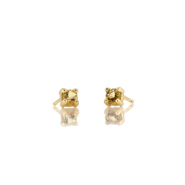 November Citrine Birthstone Stud Earrings