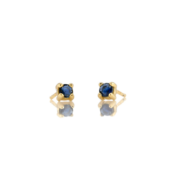 September Sapphire Birthstone Stud Earrings