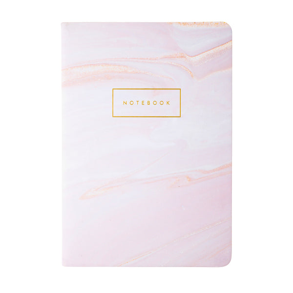 Pink Blush Marble Styled Notebook