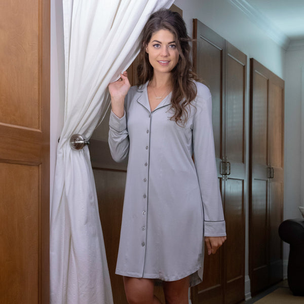 Bamboo Boyfriend Nightshirt - Body Mind & Soul