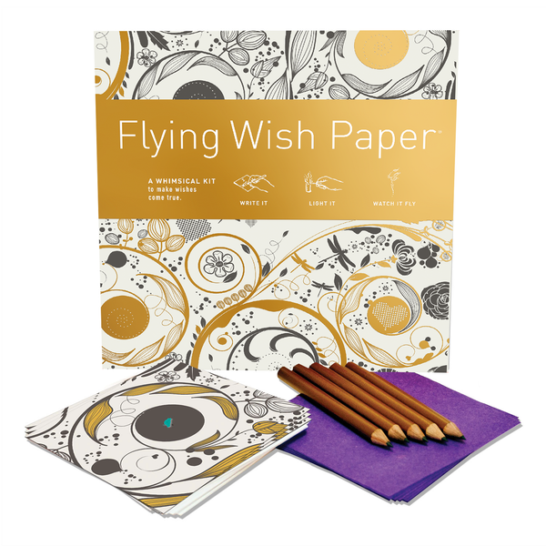 Large Flying Wish Paper in Swirls