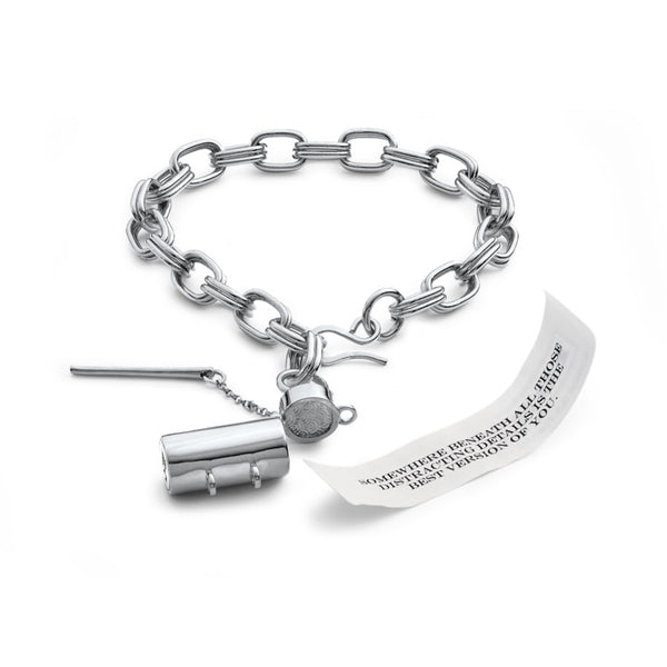Capsule + Wand Sterling Silver Bracelet