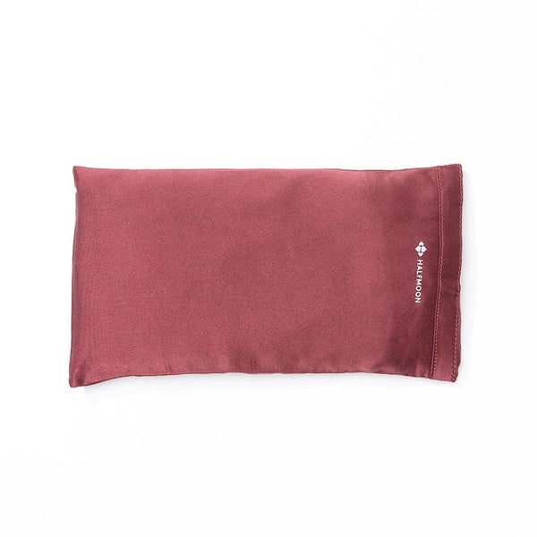 Silk Eye Pillow in Garnet