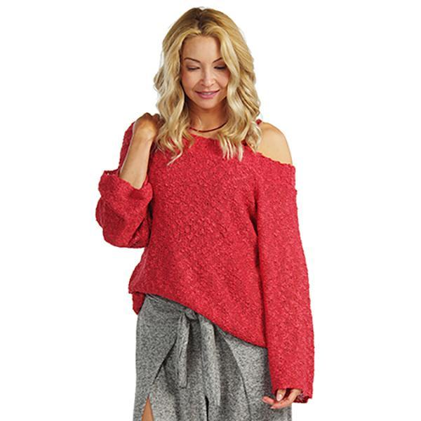 Flirty Crochet Top in Crimson