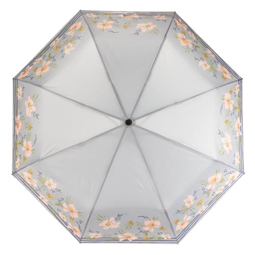 Gray Floral Travel Umbrella