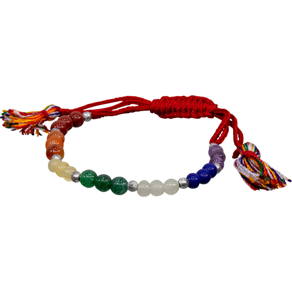 Adjustable Gemstone Chakra Bracelet - Body Mind & Soul