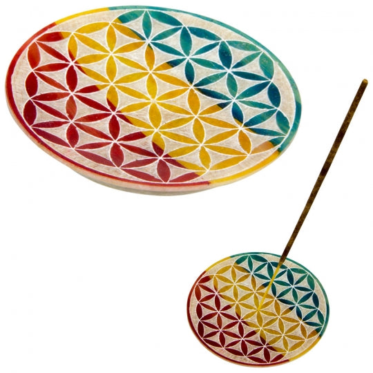 Flower of Life Soapstone Incense Burner