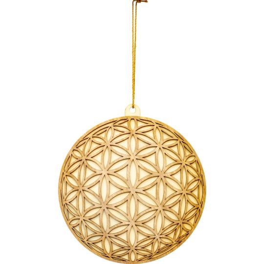 Flower of Life Wood Wall Decor