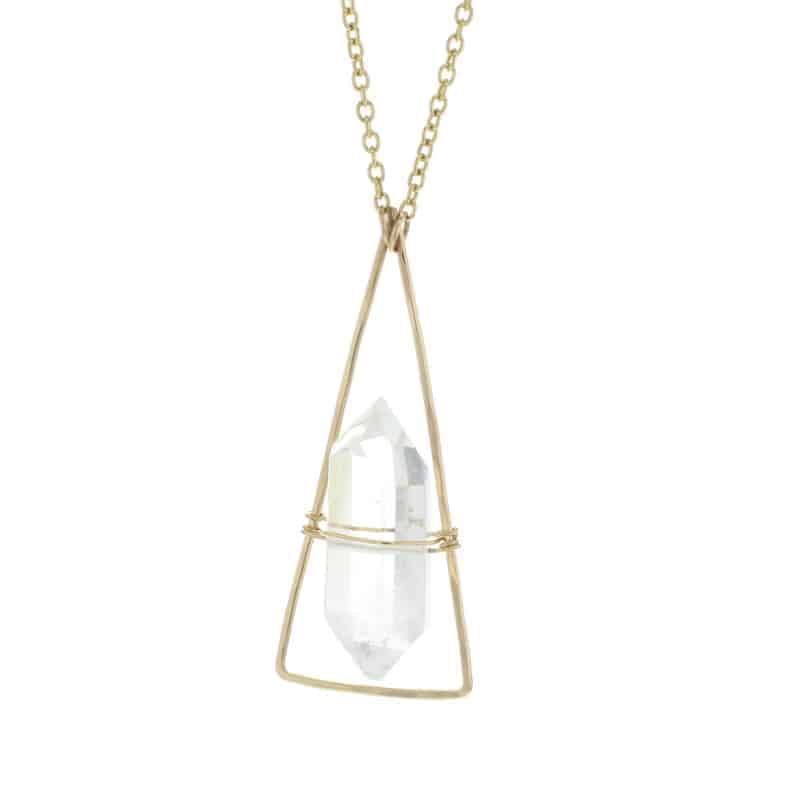 Crystal Quartz Chalet Necklace