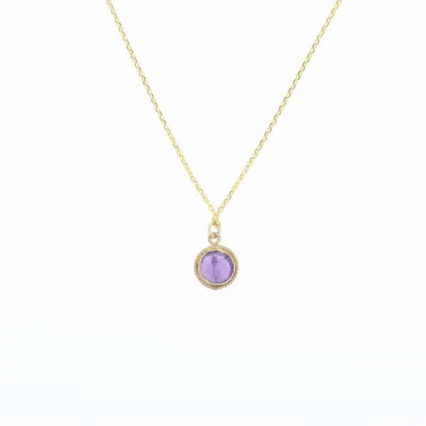 Amethyst Lucca Necklace in Gold
