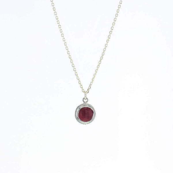 Ruby Lucca Necklace in Silver