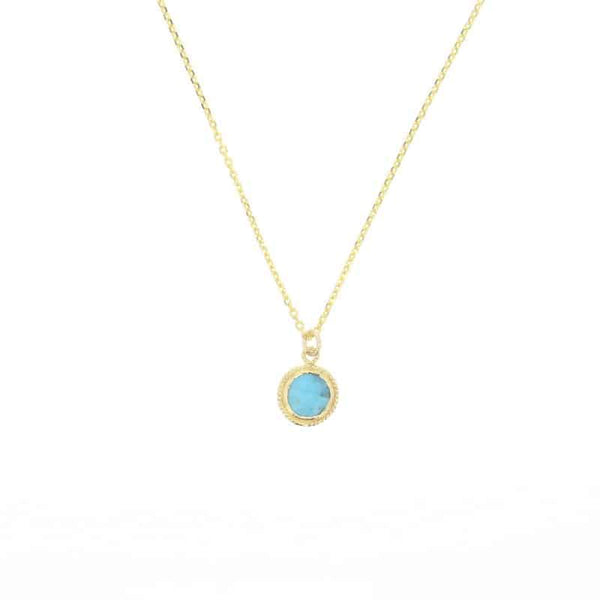 Turquoise Lucca Necklace in Gold