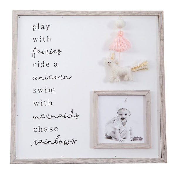 Chase Rainbows Pink Unicorn Tassel Picture Frame