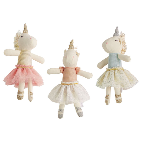 Plush Tutu Unicorn Rattles - Body Mind & Soul
