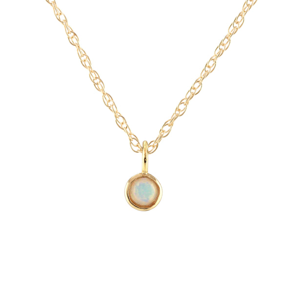 October Opal Birthstone Necklace