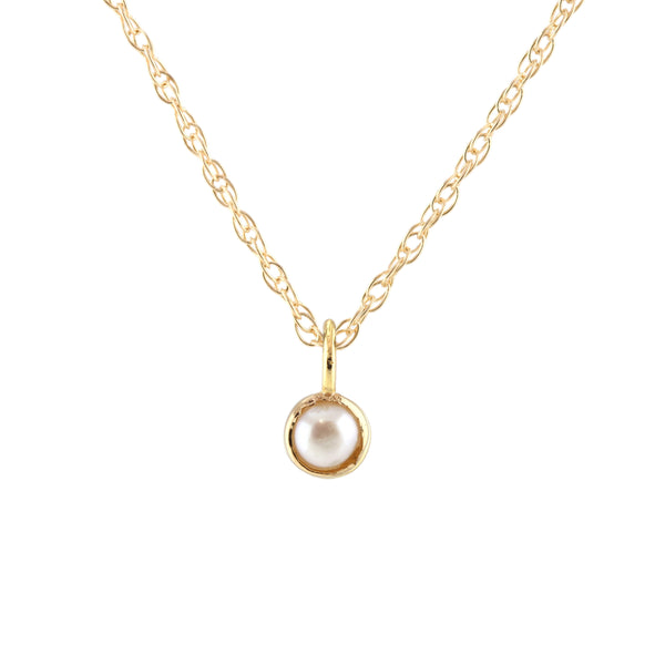 June Pearl Birthstone Necklace