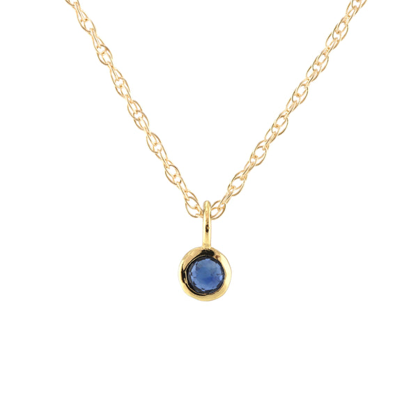 September Sapphire Birthstone Necklace