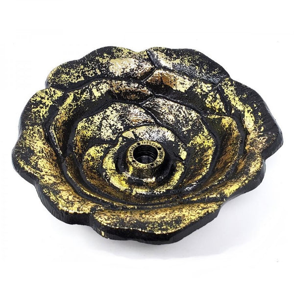 Large Golden Rose Bowl