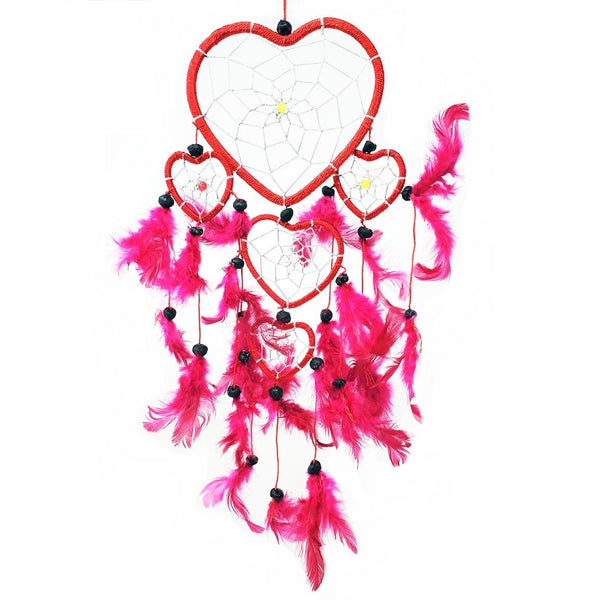 Heart Dreamcatcher with Feathers