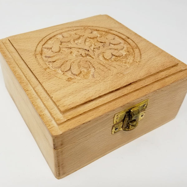 Square Tree of Life Wooden Box
