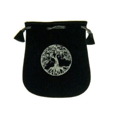 Tree of Life Velvet Bag