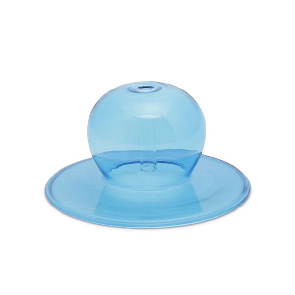 Realm Glass Bubble Incense Holder in Blue
