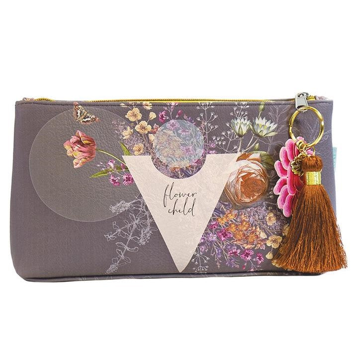 Small Flower Child Tassel Pouch