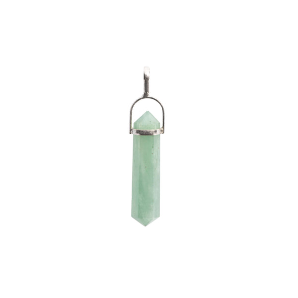 Aventurine Point Sterling Silver Pendant