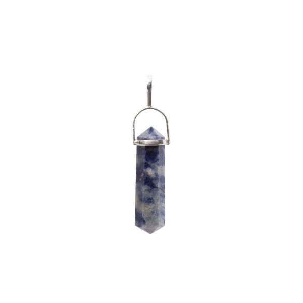 Sodalite Point Sterling Silver Pendant