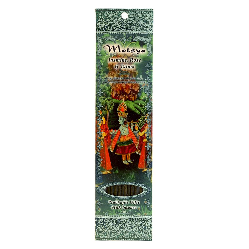 Matsya: Jasmine, Rose & Tulasi Incense