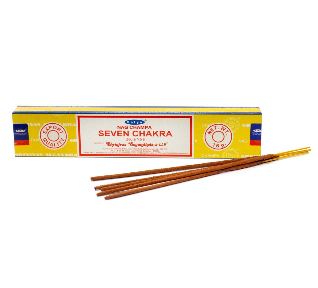 Satya Seven Chakra Incense - Body Mind & Soul