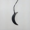 Shungite Necklace in Crescent Moon