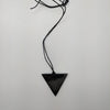 Shungite Pendant in Triangle Man