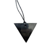 Shungite Pendant in Triangle Female
