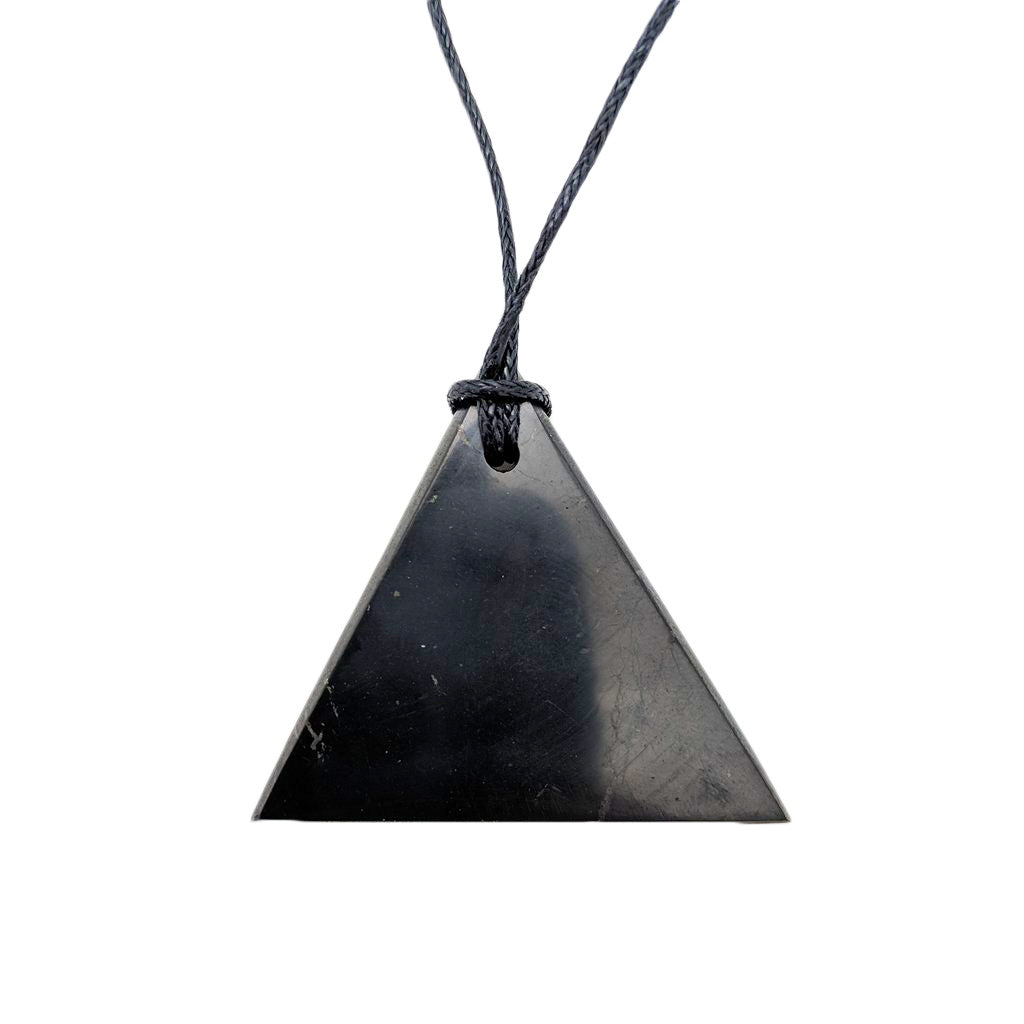 Shungite Pendant in Triangle Male