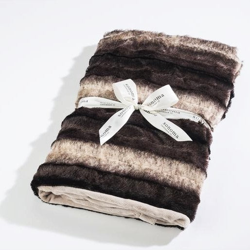 Lavender Spa Blankie in Chinchilla Faux Fur