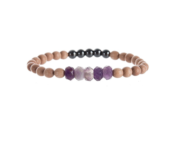 Amethyst Be Your Own Hero Bracelet for Wellness