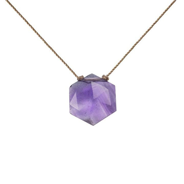 Amethyst Sacred Geometry Necklace to Heal