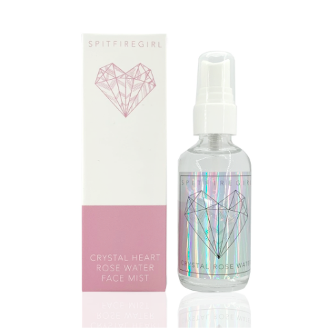 Crystal Heart Rose Water Face Mist