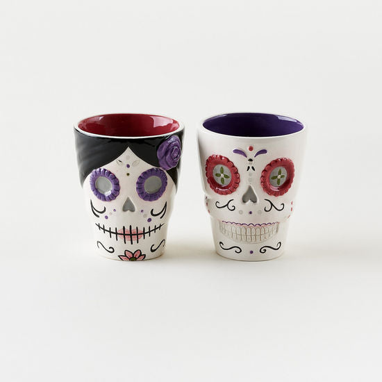 Sugar Skull Shot Glass Set