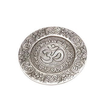 Om Aluminum Incense Burner