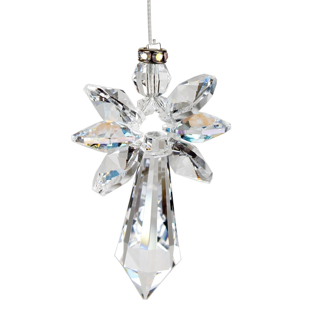Guardian Angel Aurora Borealis Crystal Suncatcher