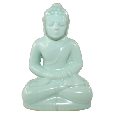 Pale Blue Buddha Statue - Body Mind & Soul