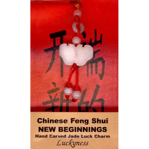 New Beginnings Feng Shui Jade Charm - Body Mind & Soul