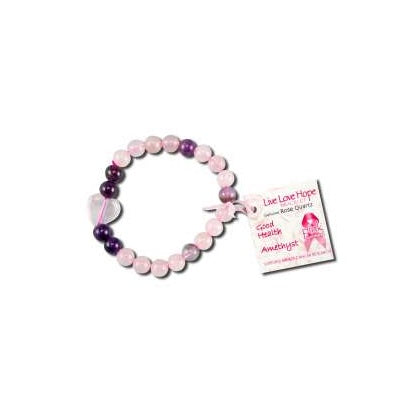 Rose Quartz Heart Bracelets - Body Mind & Soul
